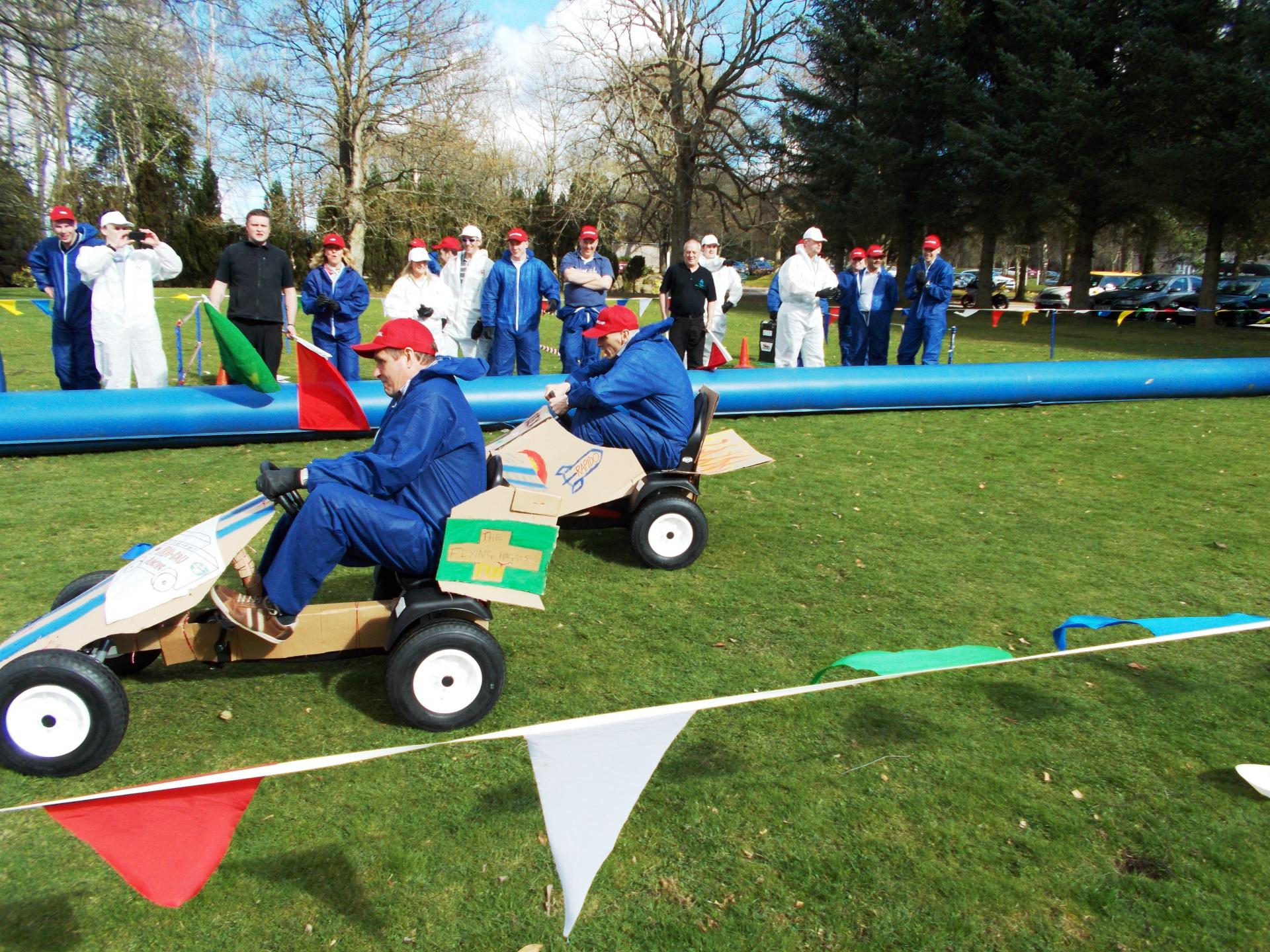 S1 Soapbox Derby Team Building with Subsea7