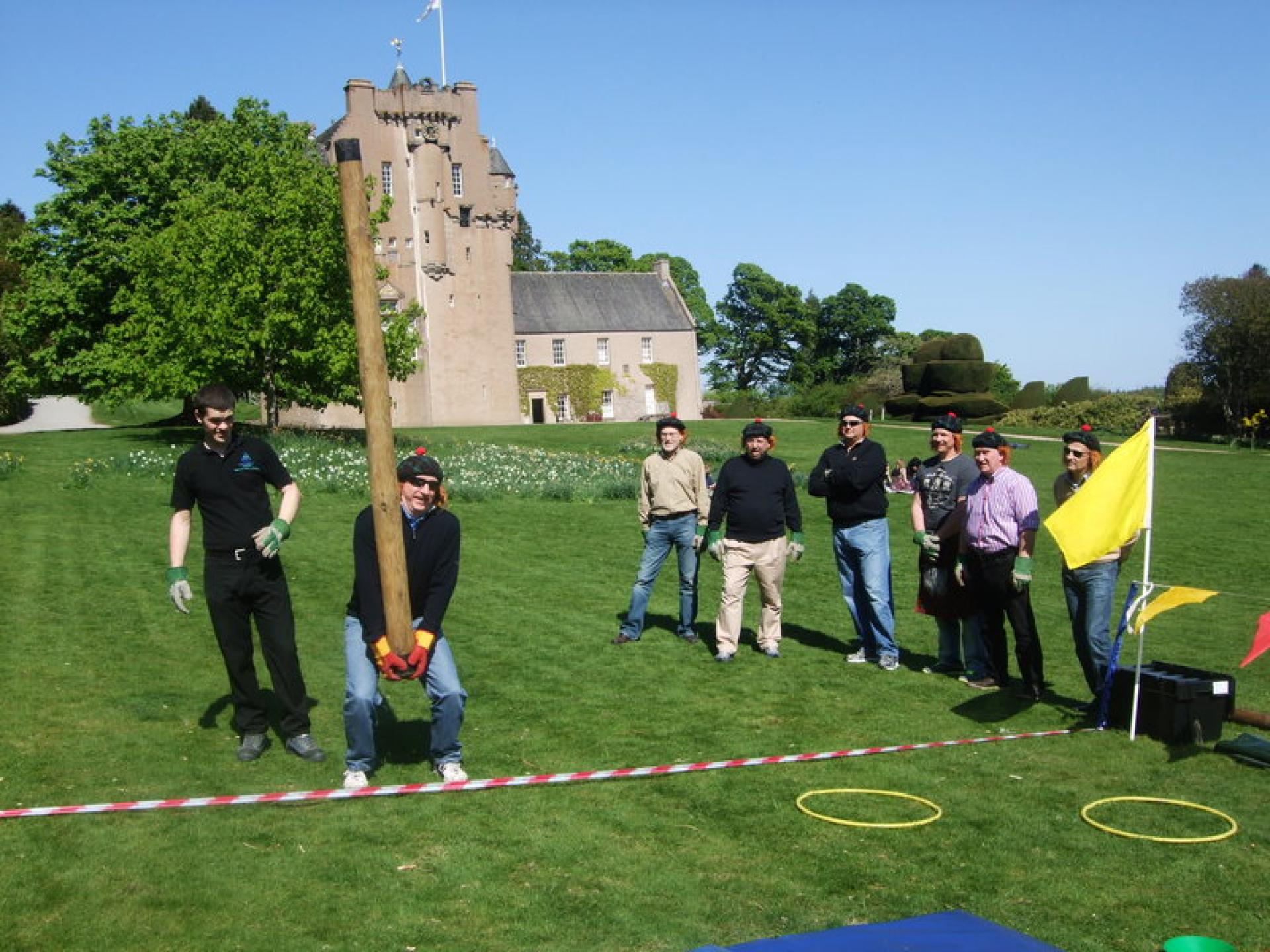 Corporate Entertainment - Crathes Castle Aprill 201
